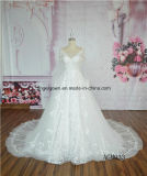 Long Sleeve Illusion Back Lace New Design Wedding Gown