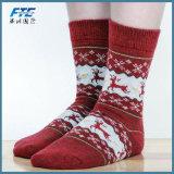 Winter Women Socks Warm Wool Christmas MID-Calf Socks