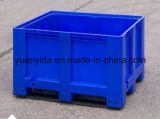 Blue Rigid Plastic Box Pallets - Solid Sides