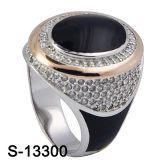 Hot-Selling 925 Sterling Silver Jewelry Enamel Man Ring.