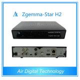 Black Color Zgemma-Star H2 Combo DVB-S2+DVBT2/C Original Samsung Tuner Built-in