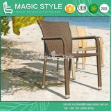 Patio Wicker Chair Rattan Chair Dining Chair Stackable Chair (MAGIC STYLE)
