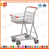 Metal Chrome Plating Wheeled Grocery Cart Wire Shopping Trolley (Zht157)