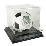 Brand New Basketball / Soccer Ball Display Case with Black Base