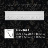 Foam Decorative Ceiling Molding PU Carving Cornice Panel Hn-8021