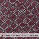 Textile Knitted Geometric Cotton Lace Fabric Wholesale (M3439)