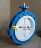 PTFE Lining Lug Typesplit Body Butterfly Valve with Ce ISO Wras Approved
