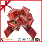 Floral Style Gift Package POM POM Christmas Ribbon Pull Bow