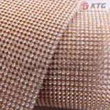 Hot Fix Triming 45X120 Aluminum Rhinestone Mesh Ss8 Crystal Silver Base Mesh for Clothing Shoes Dress