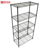 5-Tier Adjustable Display Rack Chromed Steel Display Shelf