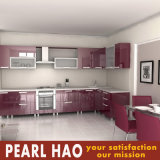 Modular High Gloss Lacquer Wood Kitchen Cabinet Cupboard