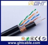 Mutimedia RG6 Coaxial Cable with Network 4p UTP Cat5e Cable