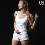 Ladies Seamless White Sports Camisole