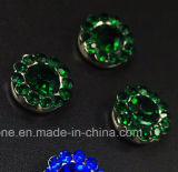 Hot Selling 14mm Crystal Rhinestone in Sewing on Strass with Claw Setting Rhinestone (TP-14mm emerald crystal)