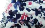 100% Acrylic Printed Scarf Dobby Checked Muslim Shawl (ABF22004002)