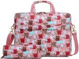 Hot Promotional Lovely Ladies Laptop Briefcase Bag, Factory Make Full Surface Printing Laptop Messenger Bag