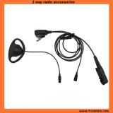 D Shape Adjustable Ear Hanger Earpiece with Ptt Cables