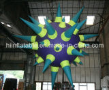 Customized 210t Polyester Cloth Inflatable Star with LED
