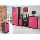 3 Piece Bedroom Furniture Set with Pink Wardrobe Dresser (BD13)