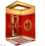 1000kg Luxurious Passenger Elevator with Mirror Redwood Finish