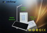 18W IP65 Solar Panel Integrated PIR Sensor LED Street Light