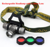 4 Color Beams 180 Lumens Rechargeable Headlamp for Hunting