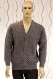 Knitted Cardigan /85% Yak &15%Wool/Men′s Wool Sweaters/Yak Wool Sweaters/Clothing