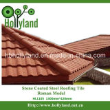 Stone Chips Coated Steel Roofing Tile-- Roman Type