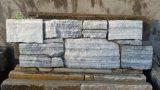 China Natural Cloudy Grey Quartzite Cement Back Ledgestone for Villa