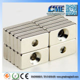 Rare Magnets for You NdFeB Magnetic Blocks with Hole