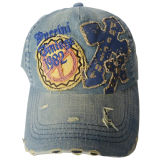 Washed Cap with Applique DC09