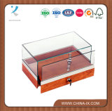 Counter-Top Showcase for Jewelry Sliding Deck with Security Lock