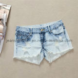 Women/ Lady Cheap Short Pants/Cheap Jeans