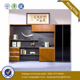Glass Wooden Door Alumnium Bookshelf Storage Bookcase Filing Cabinet (UL-MFC418)