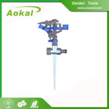 "High Quality 1/2""Plastic Impulse Sprinkler with Metal Spike"