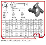 Stainless Steel 304 316  DIN603 Carriage Bolt M6X12...M6X60