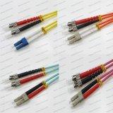 LC-St Sm/mm/Om1/Om2/Om3/Om4 Dx 2.0/3.0 PVC/LSZH Optical Fiber Patch Cord