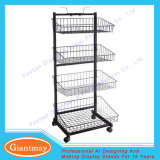 Personalized Powder Coated Metal Wire Snack Shelf Display Rack