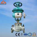 Diaphragm Type Pneumatic Globe Control Valve with Top Handwheel