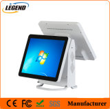 Professional White Linux Dual Screen POS System All in One