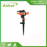 "Garden Tools Lawn Irrigation 1/2"" Plastic Impulse Sprinkler with Spike"