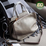 Genuine Leather Woman Bags Lady Shopping Bag Girl Soft Shoulder Bags From China Factory Emg5236