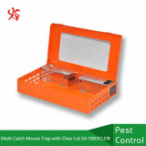 Multi Catch Mouse Trap with Clear Lid Orange Powder Coating