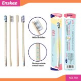 Biodegradable Wheat Straw Adult Toothbrush with Helix Bristles 701