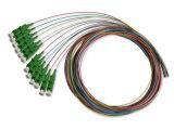 12 Colors LC/APC Sm Fiber Optic Fan out Multi-Pigtails