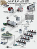 Slurry Pump for Platinum Ore Beneficiation Mineral Processing Plant Flowchart