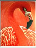Low Price 100% Handpainted Animal Art Work Oil Painting Red Swan for Home Decoration (LH-003000)