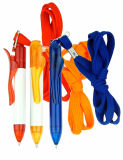 Plastic Ball Point Pen with String for Nurse Use