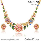 Fashion Luxury 18k Gold-Plated Imitation Flower Jewelry Set with Rhinestone (S-8)
