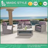 Rattan Sofa with Cushion New Design Combination Sofa Set Garden Sofa with Pillow Patio 2-Seat Sofa (MAGIC STYLE)